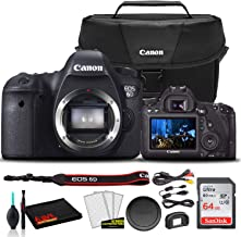 $851 » Canon EOS 6D DSLR Camera (Body Only) (8035B002) + Canon EOS Bag + Sandisk Ultra 64GB Card + Cleaning Set and More (International Model)