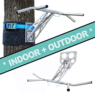 PULLUP & DIP Portable Pull Up Dip Bar, for Wall Mount and Tree, Indoor & Outdoor Pull Up Dip Bar Combo for Home and Garden/Park, Premium Quality Stainless Steel Chin Up Dip bar