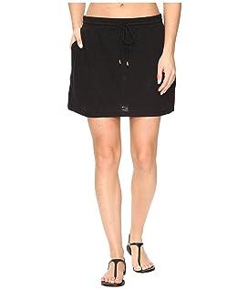 Slub Knit Drawstring Skirt Cover-Up