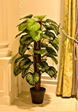YATAI Nearly Natural Green Apple Artificial Plant 1.3 Meters High One Rod Artificial Tree –Fake Plants – Fake Tree – Home ...