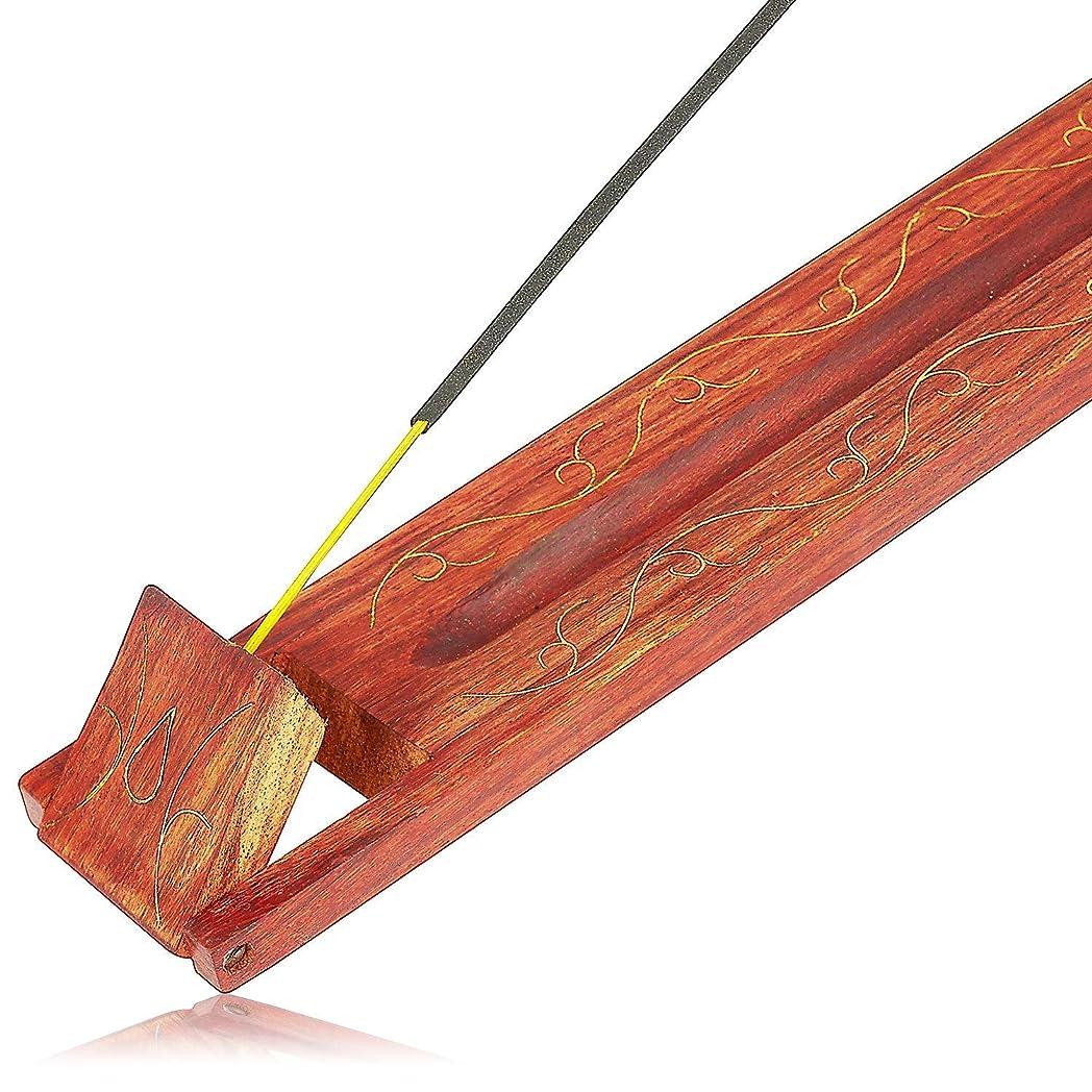 高尚な高尚なクランシー母の日ギフト木製お香スティックバーナーホルダーリーフオーガニックEco Friendly AshキャッチャートレイAgarbattiホルダー素朴なスタイル手彫りの瞑想ヨガアロマテラピーHome Fragrance製品