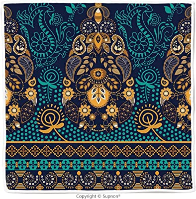 Amazon.com: KAVKA DESIGNS Palencia Fleece Blanket, (Blue ...