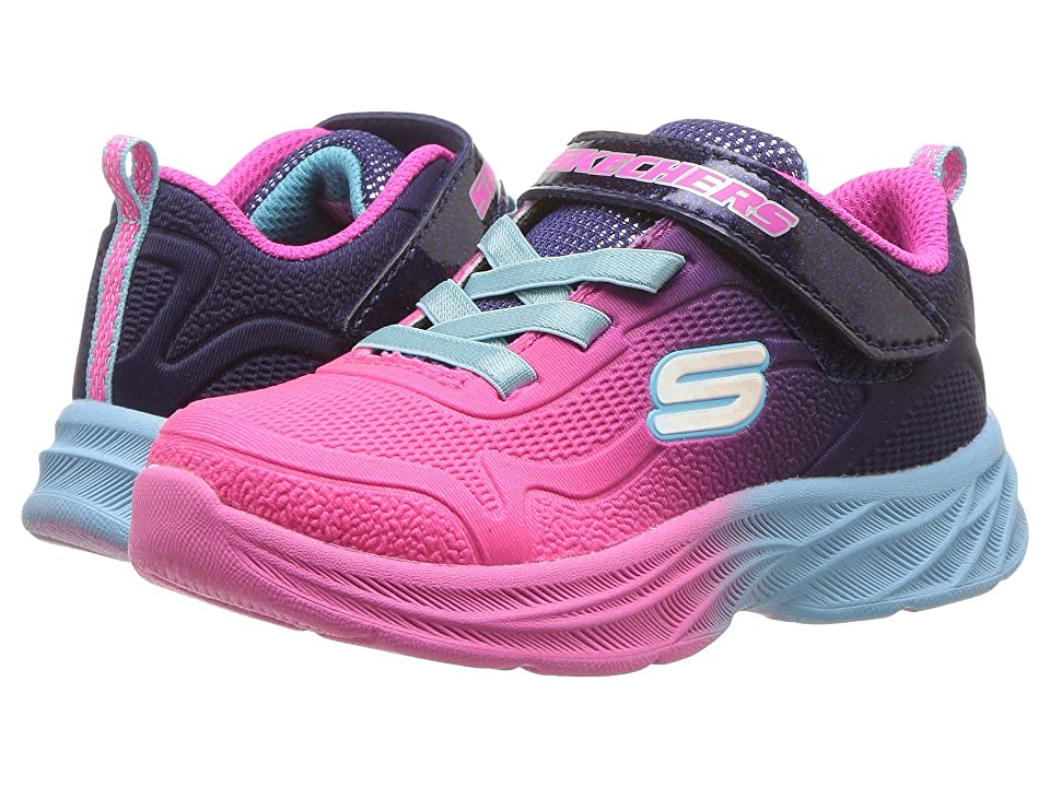 SKECHERS KIDS Sublimated Ombre Mesh Sneaker w/ Gore Strap (Toddler) (Hot Pink/Purple) Girl