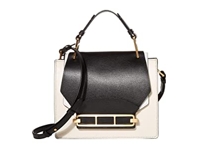 ZAC Zac Posen Katie Top-Handle Shoulder Color Block (Black) Handbags