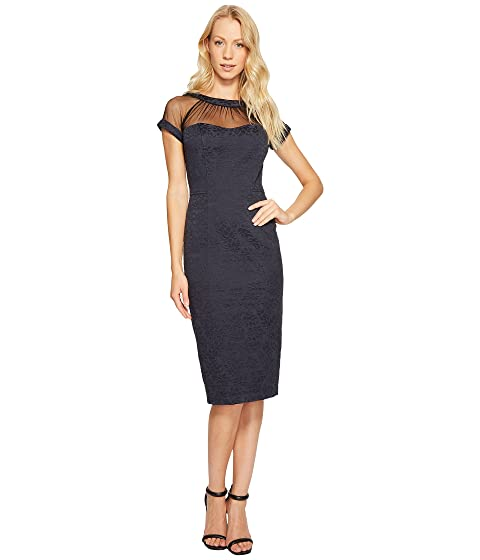 74b0615187db Maggy London Tossed Leaf Jacquard Illusion Dress at 6pm