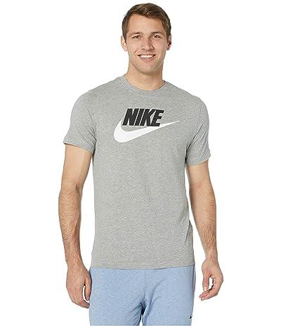 Nike NSW Icon Futura Tee (Dark Grey Heather/Black/White) Men