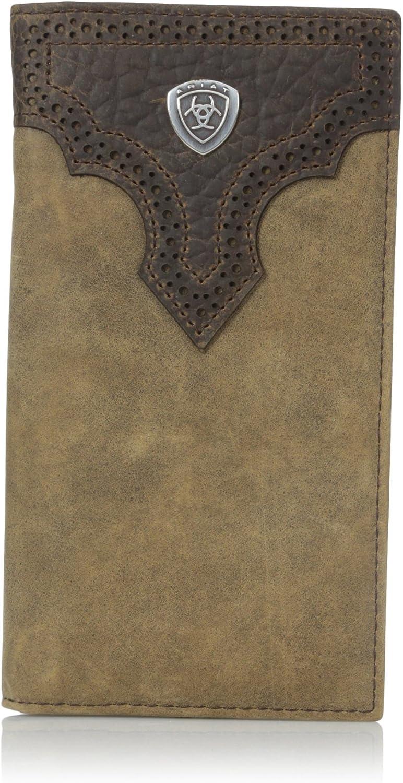 Ariat Men's Distressed Shield Rodeo Western Wallet