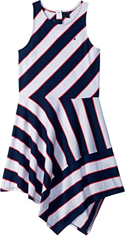 Directional Stripe Dress (Big Kids)