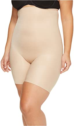 Spanx - Plus Size Power Conceal-Her High-Waisted Mid Thigh Shorts