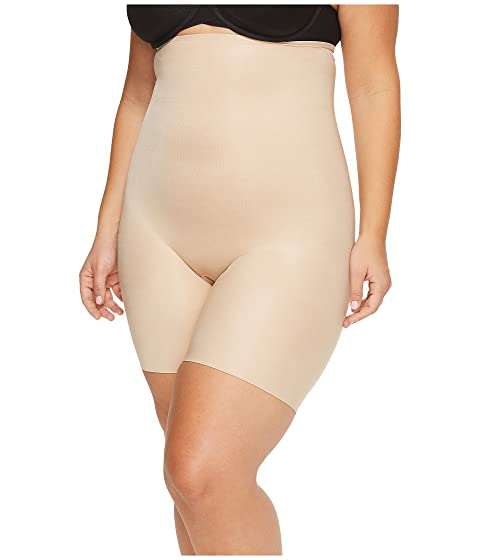 91aac8ea88 Spanx Plus Size Power Conceal-Her High-Waisted Mid-Thigh Short at ...