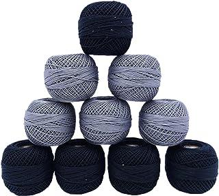 10 Pcs Cotton Mercerized Crochet Thread Yarn Knitting Skeins Tatting Craft