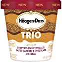 Haagen-Dazs Trio Salted Caramel Chocolate Ice Cream, 14 oz (Frozen)
