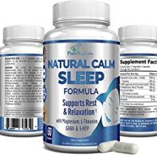 Natural Calm Sleep Formula with 5-HTP, L-Theanine, GABA, Magnesium, Melatonin, 60 Capsules Supports Calm restful Sleep, Re...