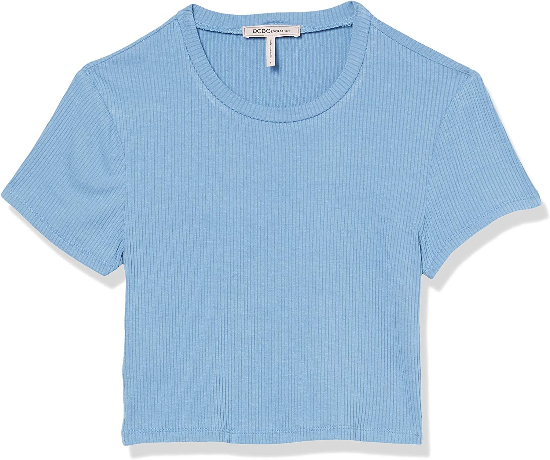 BCBGeneration Women's Short Sleeve Baby Cropped T-Shirt