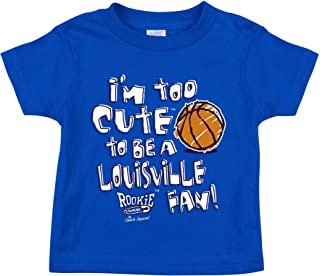 Kentucky Basketball Fans. I'm Too Cute to be a Louisville Fan! Royal Onesie (NB-18M) or Toddler Tee (2T-7T)