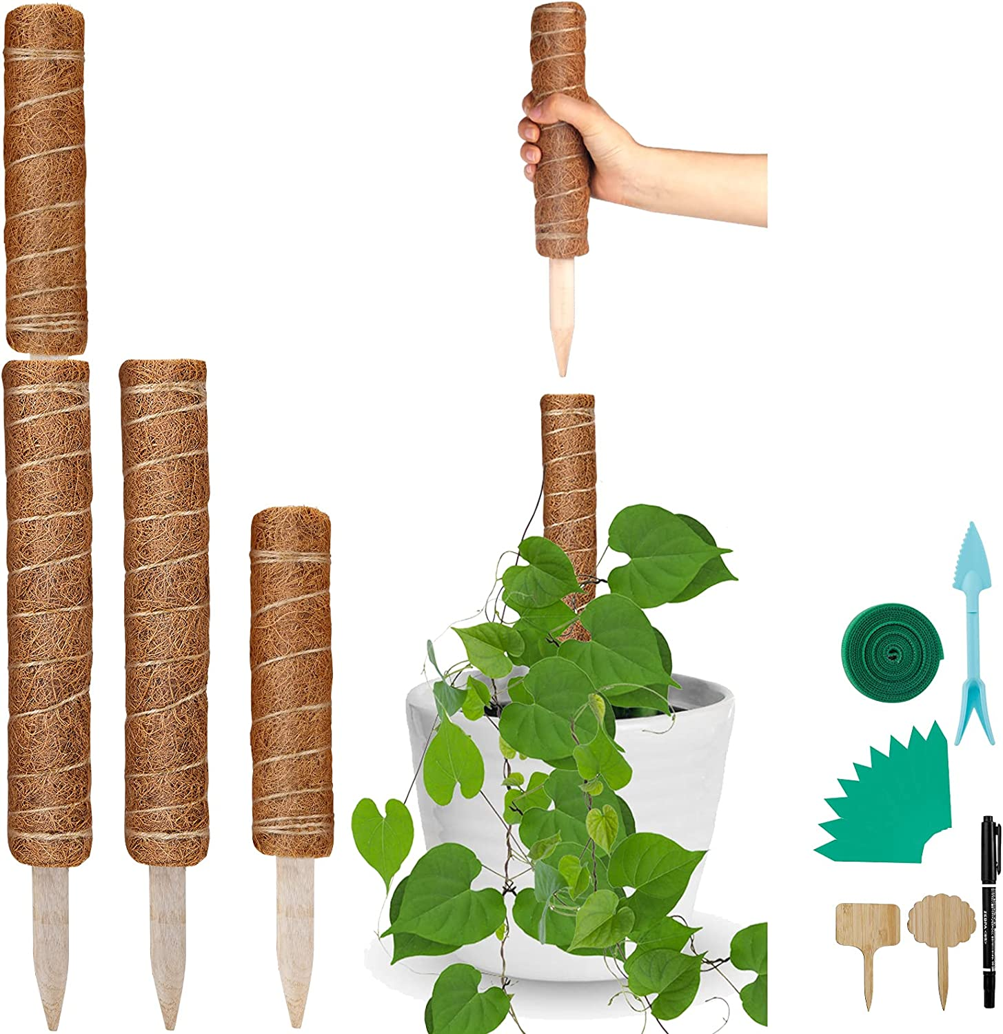 Sumfox 2 Packs 28 Inches Stackable Moss Plant Today's only Su Pole Max 41% OFF Totem Coir