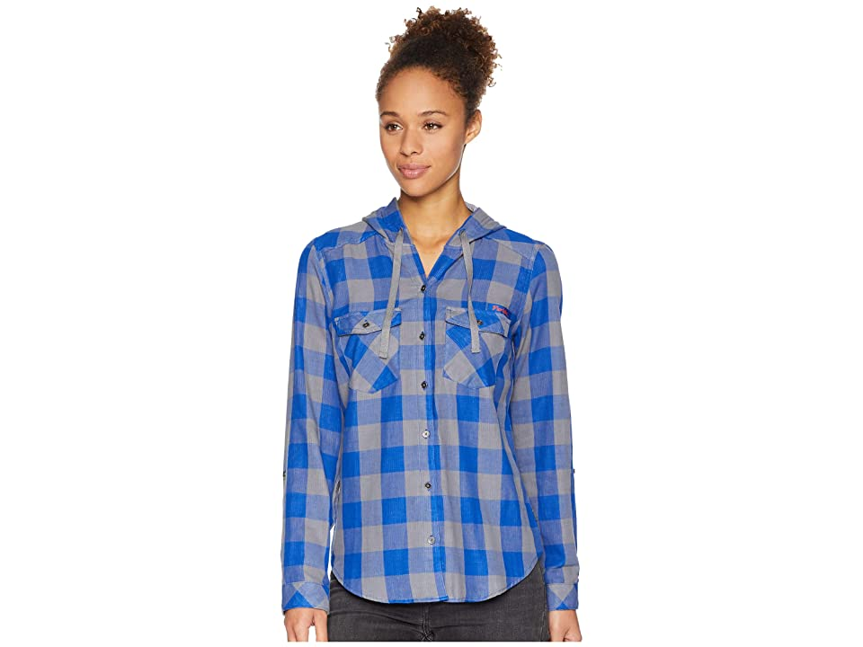 Columbia Collegiate Times Twotm Hooded Long Sleeve Shirt (FLA/Azul Check) Women