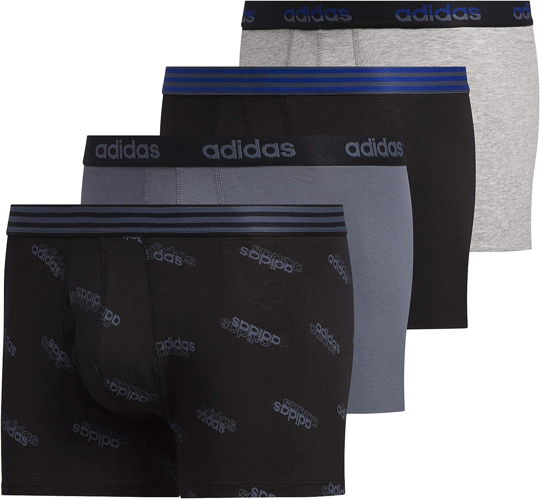adidas Men's Core Stretch Cotton Trunk Underwear (4-Pack)