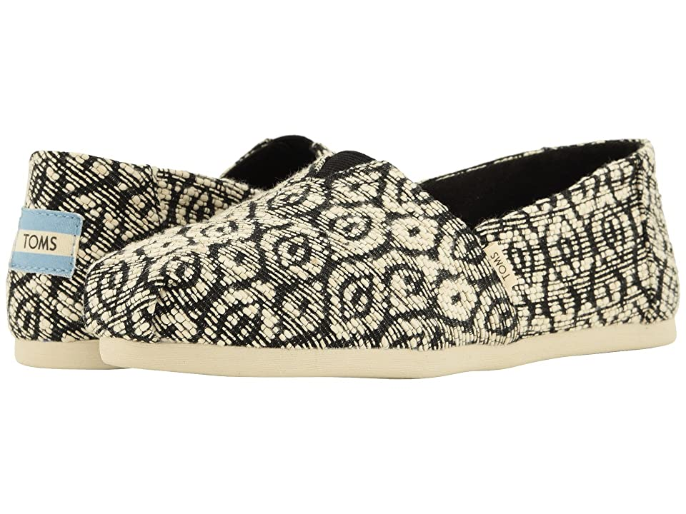 TOMS Alpargata (Black Diamond Woven Rope (Vegan)) Women