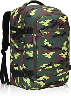 Hynes Eagle Travel Backpack 40L Flight Approved Carry on Backpack Yellow Camo