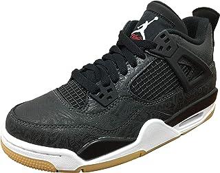 buy online 96061 73f32 Air Jordan Retro 4 SE Black Laser Black White-Gum Light Brown (GS