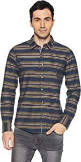 Beat London by Pepe Jeans Men's Striped Slim Fit Casual Shirt