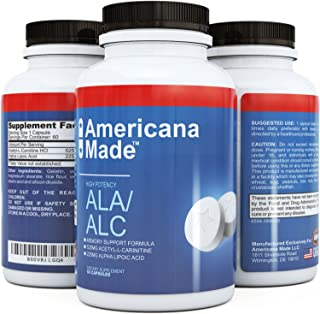 Pure Alpha Lipoic Acid Supplement ★ Natural Acetyl L Carnitine Arginate HCL Capsule ★ Potent ALA ★ Best ALC ★ Pill Helps with Weight Loss & Skin Care ★ No Side Effects