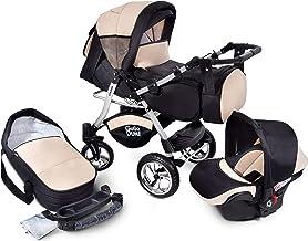 GaGaDumi Urbano Kombikinderwagen Kinderwagen Babyschale 3in1 System Autositz U3-Sandy