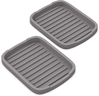 ZAPPOWARE Silicone sponge holder -soap tray - 5.9 X 4.33 (Gray) - Set -2pcs