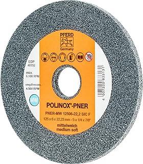Pferd 44691452 Polinox-kompakt sliphjul PNER – för vinkelslipmaskiner och strupslipmaskiner – Ø 125 mm, varvstm: 6,100