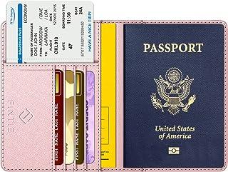 FINTIE Porte-Passeport Housse - Voyage Protecteur Portefeuille Pochette Etui de Protection pour Passeport, Carte d'embarqu...