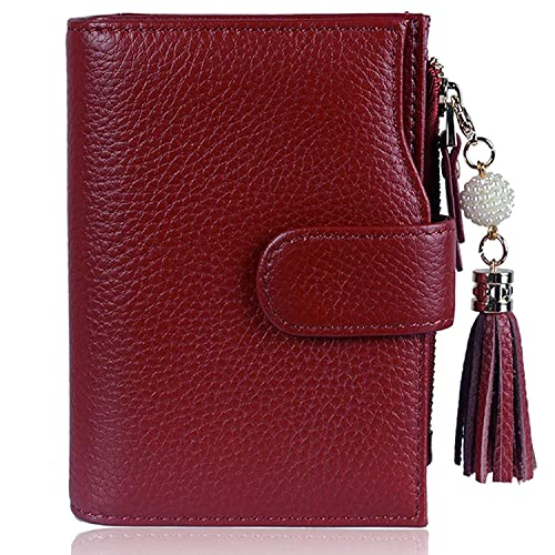 c2e35cdb1 Befen Women's RFID Blocking Wallet Full Grain Leather Small Compact Bifold  Leather Coin Purse Front Pocket