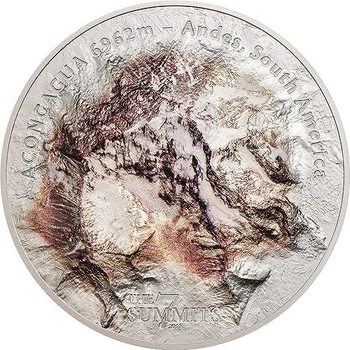 Envio gratis en todas las ordenes Aconcagua Monte Monte Monte 7 Summits Sudamerica Andes 5 Oz Moneda plata 25  Cook Islands 2018  marcas de diseñadores baratos