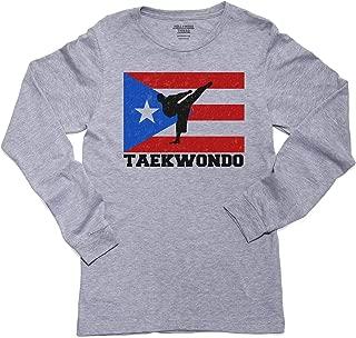 Puerto Rico Olympic - Taekwondo - Flag Long Sleeve Youth T-Shirt