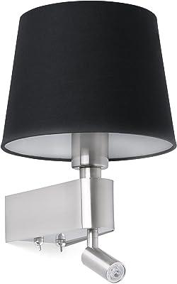 Faro Barcelona 29977 ROOM Lampe applique noire avec lecteur LED