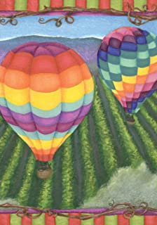 Toland Home Garden Soaring 28 x 40 Inch Decorative Colorful Summer Hot Air Balloon House Flag