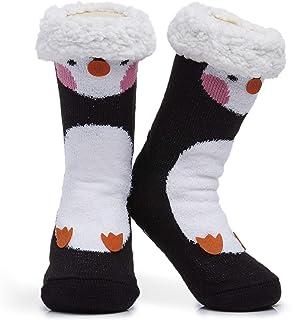 Calcetines para zapatillas mullidas Mujeres Calcetines para el hogar suaves premium Tamaño 4-8 - Novedad Perro pastor de ovejas Gato Mullido y peludo Calcetines para zapatillas