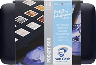 Royal Talens - Van Gogh - Metallic and Interference Colours - Watercolour Pocket Box of 12