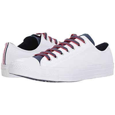 Converse Chuck Taylor(r) All Star(r) Ox Court Prep Block (White/Navy/Gym Red) Classic Shoes