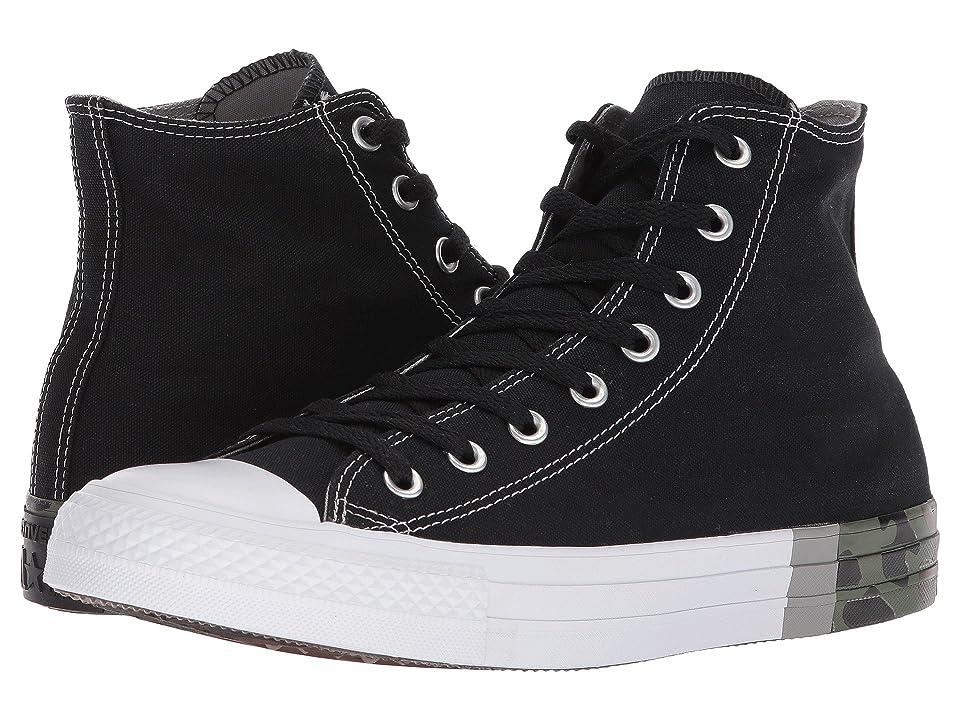 Converse Chuck Taylor(r) All Star Tri Block Midsole Hi (Black/Dolphin/White) Classic Shoes