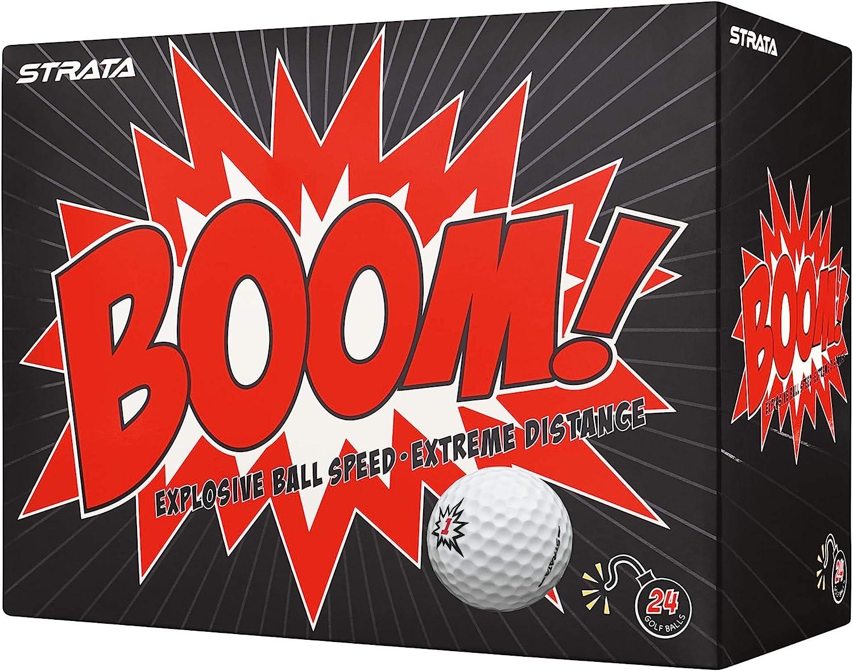 Strata Boom Golf Balls, (Two Dozen)