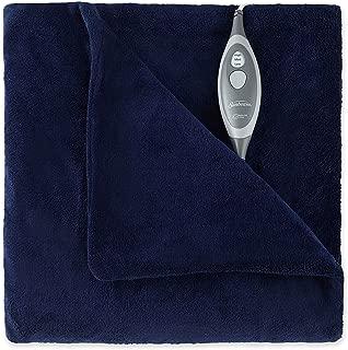 Sunbeam Microplush Electric Heated Throw Blanket Royal Blue