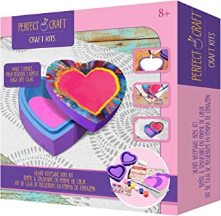 Perfect Craft Award Winning Cast & Paint Heart Box Kit with Perfect Cast Casting Material and Reusable Mold