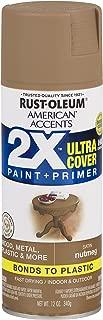 Rust-Oleum 327917-6 PK American Accents Spray Paint, Satin Nutmeg