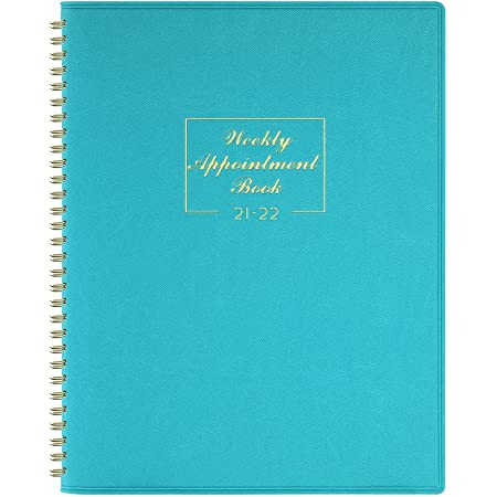 2021-2022 Appointment Diary - July 2021-June 2022 with Times, Diary A4 Week to View Hourly Planner in 15 Minutes, 21.8 x 29 cm, Soft Leather Cover, Appointment Book with Ringbound