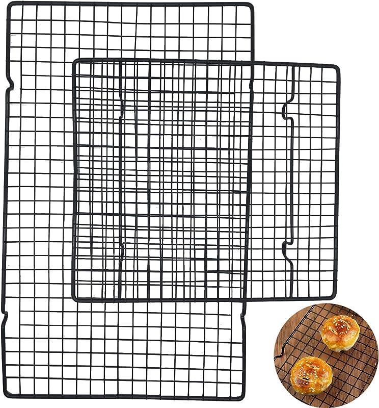 Jashem Cookie Cooling Rack 2 Sizes Cooling Rack Baking Rack Black Sheet Pan For Cool Cake Breads Cookies Biscuits Pastry Baking Pan Cooking Roasting Grilling Sheet