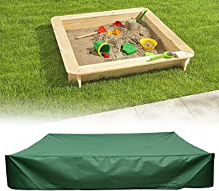Green Sandbox Covers with Drawstring as Sandpit Cover Swimming Pool Cover - 95% UV Protection Dustproof Waterproof - Preve...