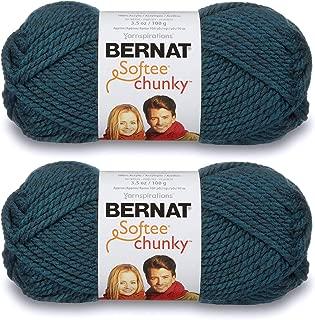 2-Pack - Bernat Softee Chunky Yarn, Teal, Single Ball
