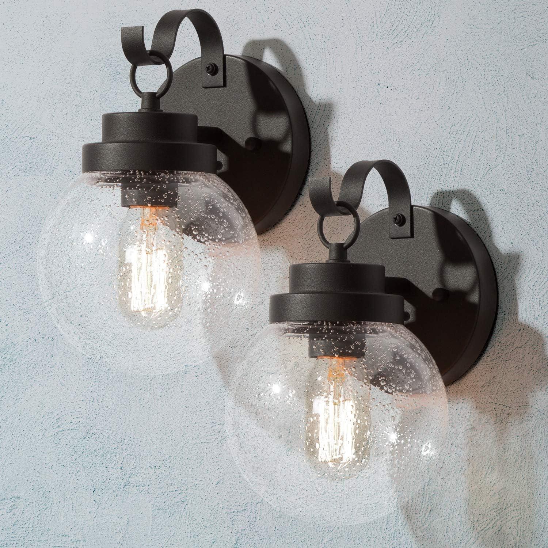 LOG BARN 2-Pack 新品 送料無料 Outdoor Wall Modern 高品質 Lights Exterior Lig Globular