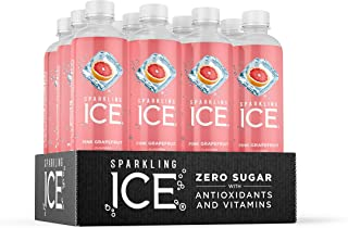 Sparkling Ice, Pink Grapefruit Sparkling Water, with antioxidants and vitamins, Zero..